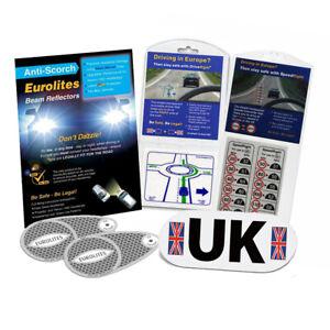 Eurolites Headlamp Beam Adaptors LHD UK Plate Drive Right Speed Right Stickers