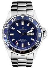 Orologio Lorenz Automatico 017695BB data uomo sub 200 mt blu classico acciaio