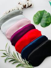 Sleeping EYE MASK Sleep Mask Colours Travel Blindfold Satin Silk Eco Gift UK