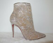 *BNIB* Louboutin - Gipsybootie Metallic Lace Red Sole Boots - 39