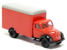Brekina Magirus 120 Mercur S3500 Koffer LKW rot neutral Modell 1:87 H0