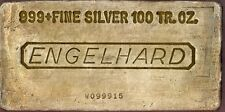 100 oz Engelhard Silver Bar - Poured Silver Bar W Series