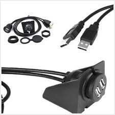 2-USB 2.0 A Car Dashboard Flush Mount Male To Female Waterproof Extension Cable