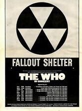 """20/10/73PN44 THE WHO : FALLOUT SHELTER TOUR ADVERT 15X11"""""""