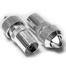 Conector hembra aéreo de TV 10x Pro Conectores-Coaxial/Coaxial RF Cable Socket-plata de níquel