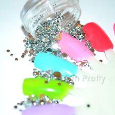 1Box Nail Art Silver Mixed Size Flatback Rhinestone Gems Crystals 3D Decoration