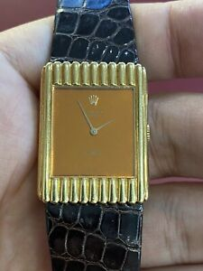 Excellent Ladies Solid 18K Y/Gold Vintage Rolex Cellini 4016 Manual Wind 1970s