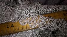 haute couture !! 2 metres de dentelle argent  lurex largeur 5 cm