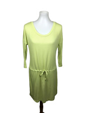 Victoria's Secret Women's Size S Waffle Knit Dress Drop Waist Neon Yellow Knit