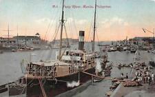 PASIG RIVER MANILA PHILIPPINES SHIP POSTCARD (c. 1910) **