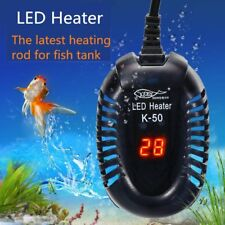 Mini Aquarium Heaters Safe Heating Rod Cylinder Low Water Heater Digital Display