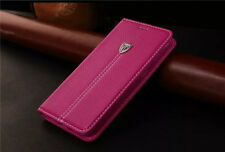 Wallet Flip Leather Case Magnetic Book Cover for Samsung Galaxy S7 Edge  - Pink