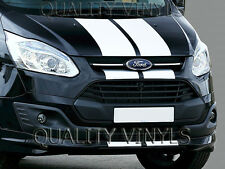 BS229 FORD TRANSIT CUSTOM BONNET RACING STRIPES DECAL STICKERS GRAPHICS