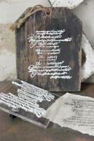 Jeanne d'Arc Living Stencil Stempel Text 15x15cm Schablone Wiederverwendbar