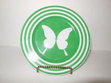 Fitz & Floyd Papillion Salad / Desert Plate White Butterfly Green Band Vintage