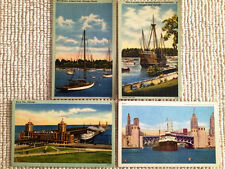 Penny Post Cards Ships,boats,.Chris Columbus Boat Navy Pier,Boat Harbor