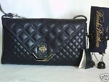 *BNWT* BROOKS BROTHERS QUILTED LAMBSKIN CLUTCH SHOULDER BAG #1 NAVY BLUE