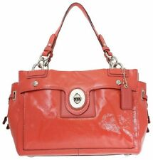 Coach Peyton Patent Leather Carryall Bag Purse # 19756M Coral NWT!