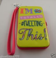 "fits Iphone smart phone Id holder wallet wristlet  "" I'm so totally tweeting """