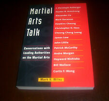 MARTIAL ARTS TALK Leading Experts Self-Defense Weapons Art Karate Judo Book NEW