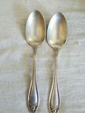 Set Of 2 Vintage 1881 Wm A Rogers A1 SilverPlate Teaspoons