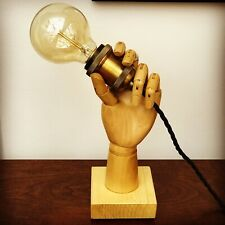 Wooden Vintage Mannequin Hand Lamp, Table Lamp, Bedside Light Edison Bulb