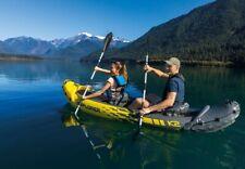 Intex Explorer K2 Two-Person Inflatable Kayak (Canoe) with Oars + Pump Kit - UK