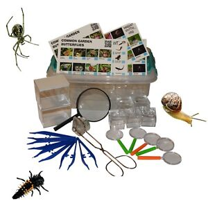 Insect Bug/Minibeast Kits Including :Bug pots,Magnifying glass,Bug Tongs Etc