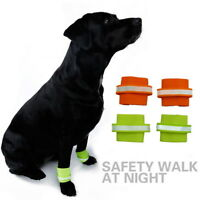 2019 Pet Dog Leg Bands Steps Night Glow Reflective Light Safety Outdoor Walking