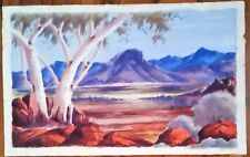 Aboriginal Watercolour painting by Claude Pannka : Hermansberg School.