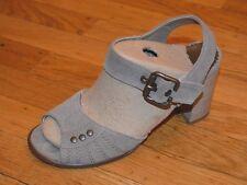 San Marina Women's Gray Suede Slingback Heels (Sz US 5.5 / EU 36)- France