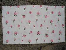 Vintage LADY PEPPERELL Pink Roses Full Flat Sheet Cotton Percale Cottage Shabby