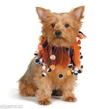 Aria Halloween Pumpkin Pom Pom Stretchy Scrunchies Dogs Cats Small-Med-Large NEW