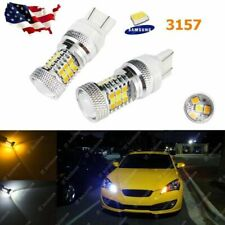 2x 3157 Switchback LED Front Turn Signal Light Bulbs for Dodge Jeep Chrysler
