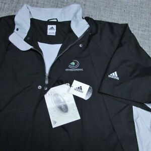 ADIDAS SHORT SLEEVE POLY  FULL ZIP  GOLF PULLOVER--2XL--CASTLE PINES-NEW!TAGS!