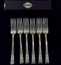Hampton Court Community Plate boxed set of 6 dessert forks