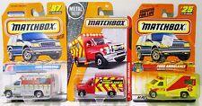 Vintage New Matchbox Diecast Ambulance EMT Emergency Lot Ford F-350