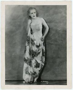 Risqué Lingerie-Clad Beauty Dorothy Hall Vintage DeBarron Studio Photograph 1934