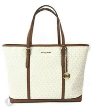 Michael Kors Jet Set Travel Signature XL Leather Shoulder Tote Handbag Bag Purse