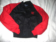 POLO RALPH LAUREN COTTON INSULATED SPELL OUT LOGO WOOL BOMBER VARSITY JACKET- L