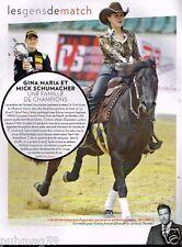 Coupure de Presse Clipping 2015 (1 page) Gina Maria et Mick Schumacher