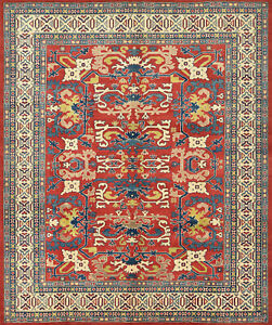 Tribal Kazak Rug, 8'x10', Red, Hand-Knotted Wool Pile