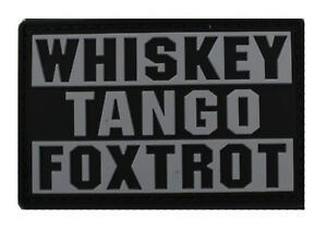 Condor Whiskey Tango Foxtrot Morale Patch - Graphite - Hook & Loop