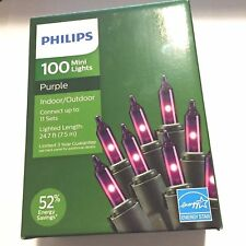 Philips 100 Mini String Lights In Or Outdoor Christmas 24 ft Purple Red Or Blue