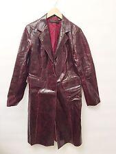 New Donna Karan Size 10 Burgundy Glaze Python Basic Coat