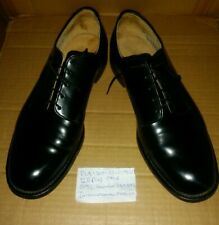International Shoe Co.: Black Military Formal Dress Shoes; Size 11 R - Vintage