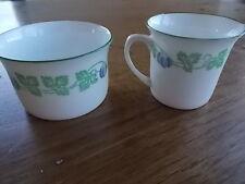 c1905 Art Nouveau FOLEY ART CHINA Peacock Pottery Cream Jug & Sugar Bowl MINT