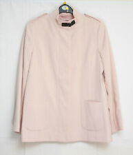 WOMANS PINK LINED JACKET FRONT ZIP PADDED SHOULDERS EPAULETTES BY TARGET SIZE 16