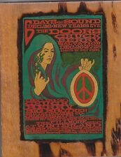 The Doors,Chuck Berry 1967 Fillmore West Winterland Ad Copied On A Wooden Plaque