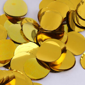 Round Metallic Table Sparkle Gold Silver Confetti 20g Wedding Party Sprinkle